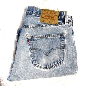 Levi's 501 button fly distressed jeans 34x34